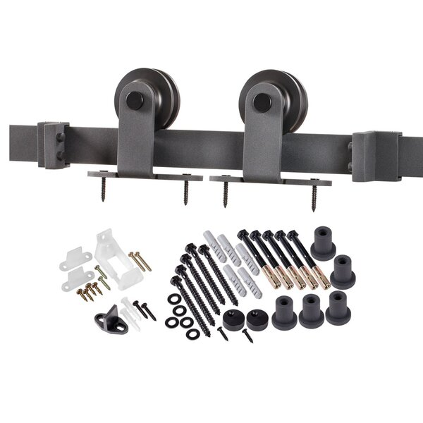 Top of Door Sliding Barn Door Hardware by Erias Home Designs
