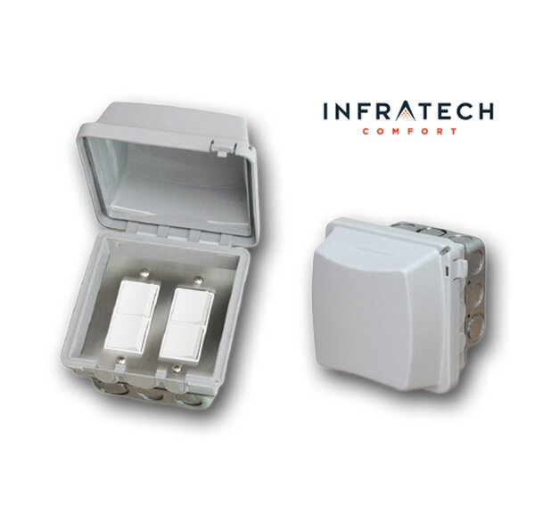 In-Wall Waterproof Double Duplex Switch by Infratech
