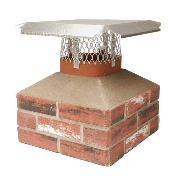 Diamond Embossed Aluminum Fit Series Chimney Cap by HY-C