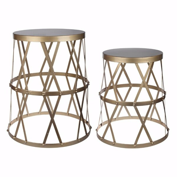 Selena Intriguing Urban 2 Piece Nesting Tables By Mercer41