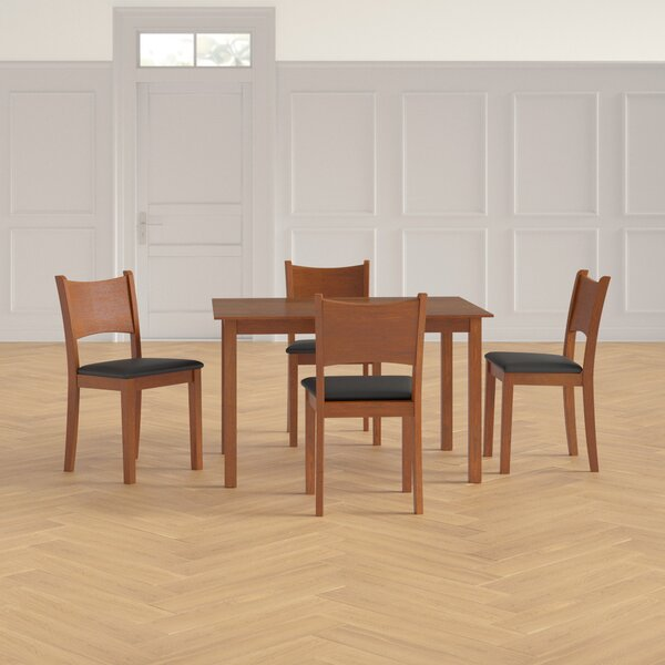 Driscoll 5 Piece Solid Wood Dining Set by Red Barrel Studio Red Barrel Studio