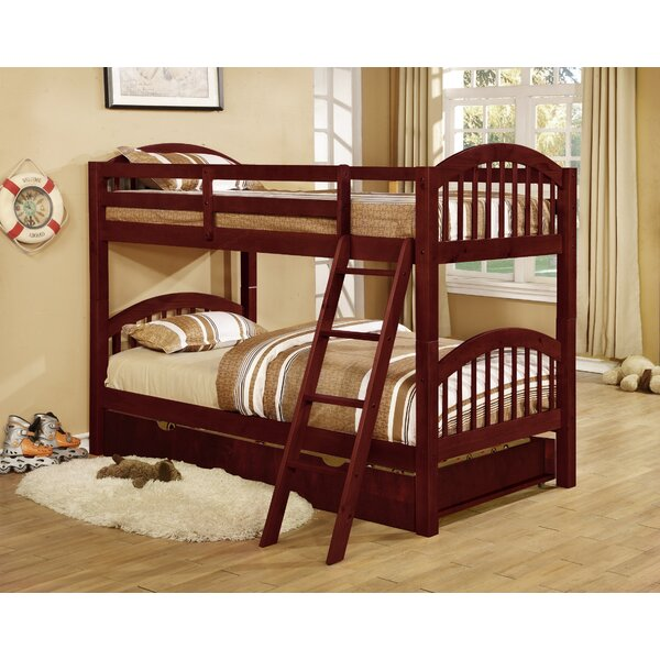 Auerbach Twin over Twin Bunk Bed with Trundle by Harriet Bee