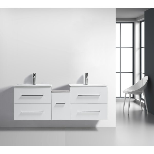 Sandoval 60 Wall-Mounted Double Bathroom Vanity Set by Orren Ellis