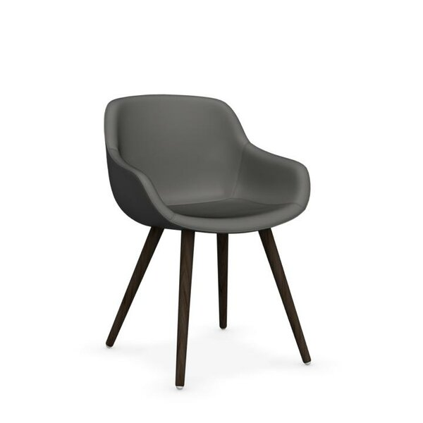 Igloo Genuine Leather Upholstered Dining Chair by Calligaris Calligaris