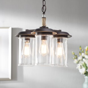 Coastal chandeliers youll love wayfair sorrell 3 light shaded chandelier mozeypictures Images