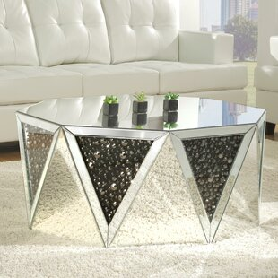 Reviews Blakes Mirrored Coffee Table ByRosdorf Park
