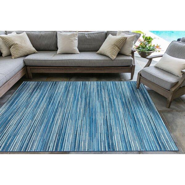 Glendale Stripes Indoor/Outdoor Rug China Blue