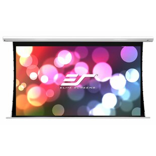 Saker Tab-Tension Series White Electric Projection Screen Elite Screens