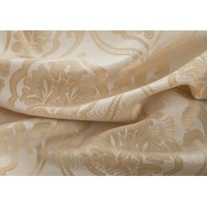 Remick Jacquard in Damask Double Rod Pocket Single Curtain Panel