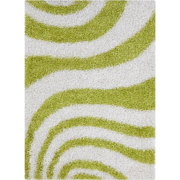 Milstead White/Green Area Rug by Latitude Run