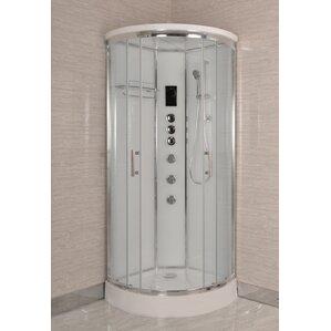 Inch Corner Shower  Neo Angle Shower Kit ChromeCorner - 32 inch corner shower stall