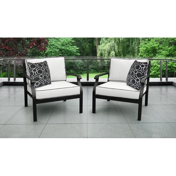 Kathy Ireland Madison Ave. 2 Piece Sectional Seating Group with Cushions (Set of 2)
