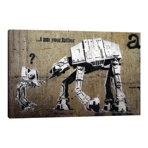 I am Father by Banksy Graphic Art on Wrapped Canvas by Jaxson Rea