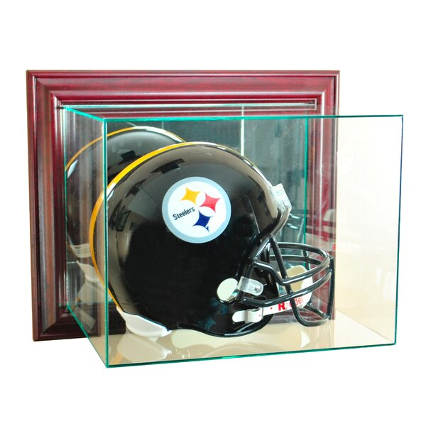 Wall Mounted Football Helmet Display Case by Perfect Cases