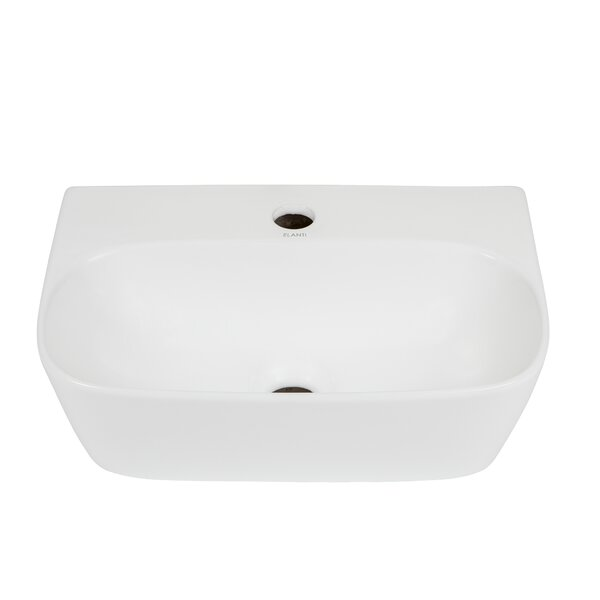 Ceramic 16'' Wall-Mount Bathroom Sink by Elanti
