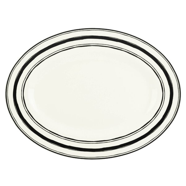 Around the Table Stripe Oval Platter by Lenox