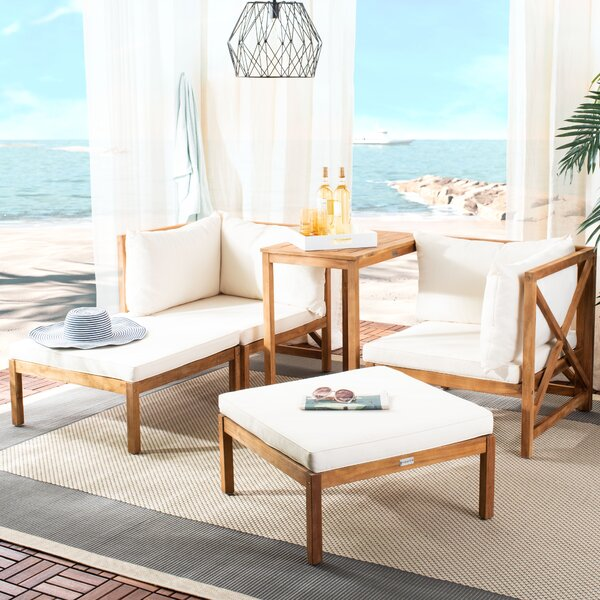 Segura 5 Piece Seating Group with Cushions by Bayou Breeze