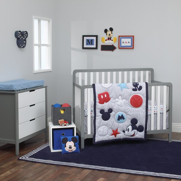 Disney Amazing Mickey Mouse 3 Piece Crib Bedding S