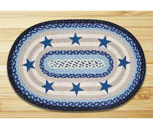 Blue Stars Printed Area Rug by Earth Rugs