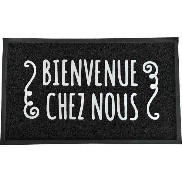 French Outdoor Printed Bienvenue Chez Nous PVC Doormat by Evideco