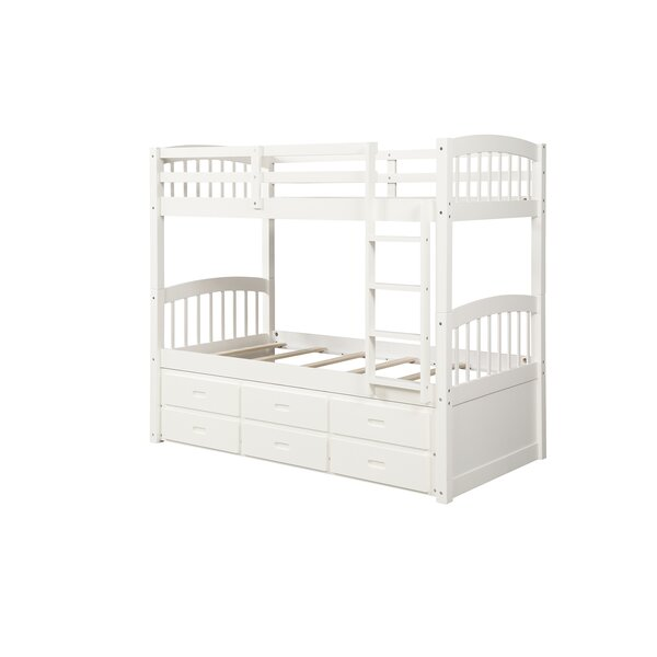 Cloyd Twin over Twin Bunk Bed with Trundle by Harriet Bee