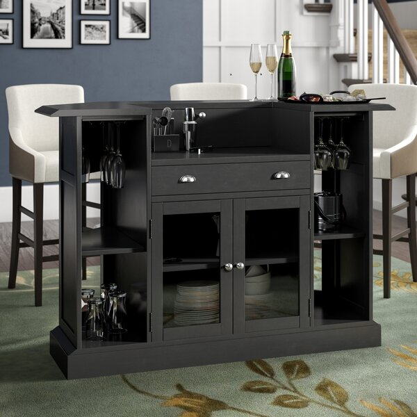 Anselm Bar with Wine Storage by Darby Home Co Darby Home Co