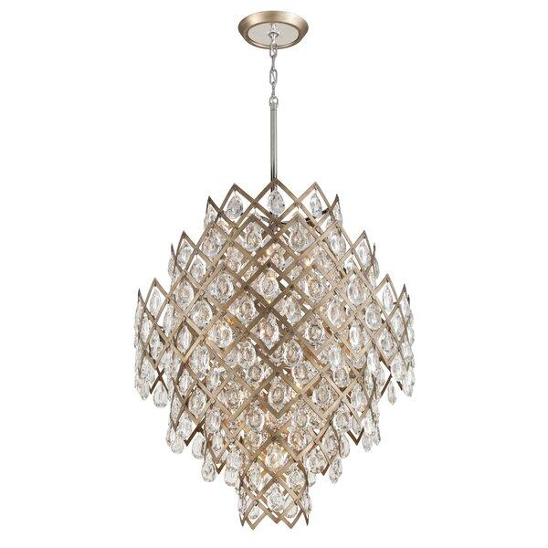 Tiara 11-Light Unique / Statement Geometric Chandelier by Corbett Lighting Corbett Lighting