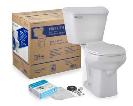 Pro-Fit 4 SmartHeight 1.6 GPF Round Two-Piece Toilet by Mansfield Plumbing Products