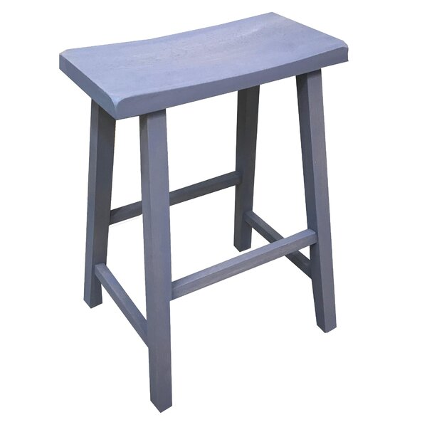 Farragut Accent Stool by Rosecliff Heights