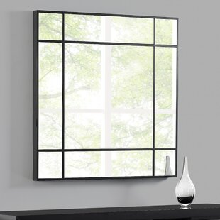 Square Glass Accent Mirror by Orren Ellis