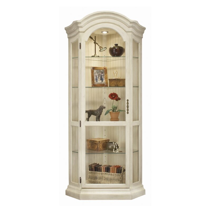 philip reinisch co colortime panorama corner curio cabinet rh wayfair com Pulaski Corner Curio Cabinets Corner Curio Cabinet with Lock