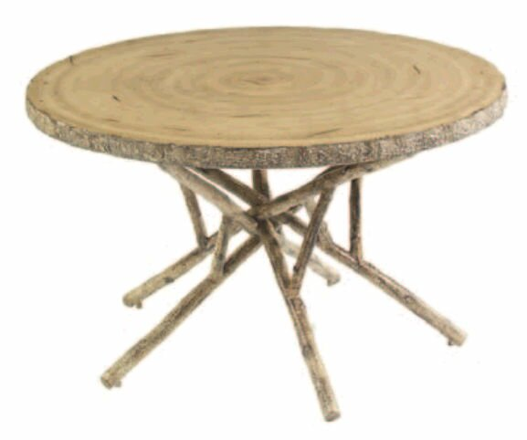 River Run Round Birch Heartwood Wooden Dining Table by Woodard