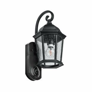 Find Hodgkins Security Camera Outdoor Wall Lantern By Fleur De Lis Living