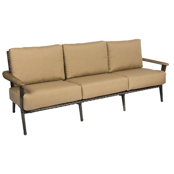 Draper Patio Sofa with Cushions by Woodard