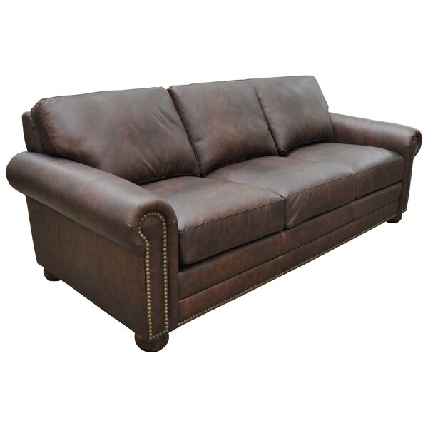 Athens Genuine Leather Chesterfield Sofa by Omnia Leather