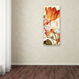 Poesie Florale Panel I by Lisa Audit Painting Print on Wrapped Canvas by Trademark Fine Art