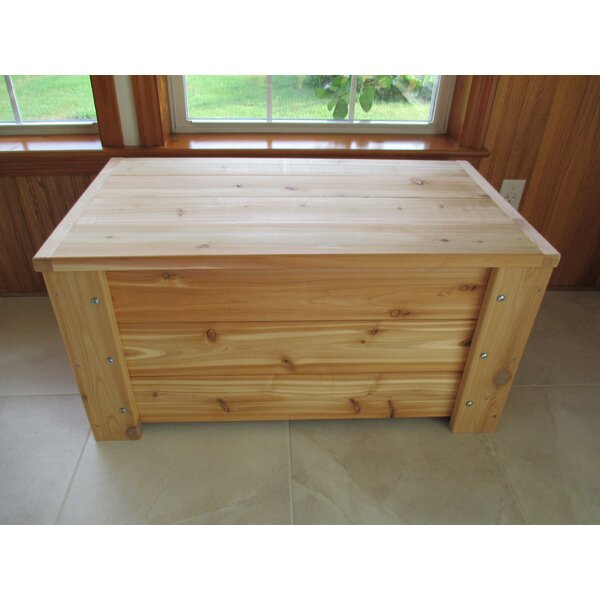 Premium Quality Indoor/Outdoor 36 Gallon Solid Wood Deck Box by Infinite Cedar Infinite Cedar