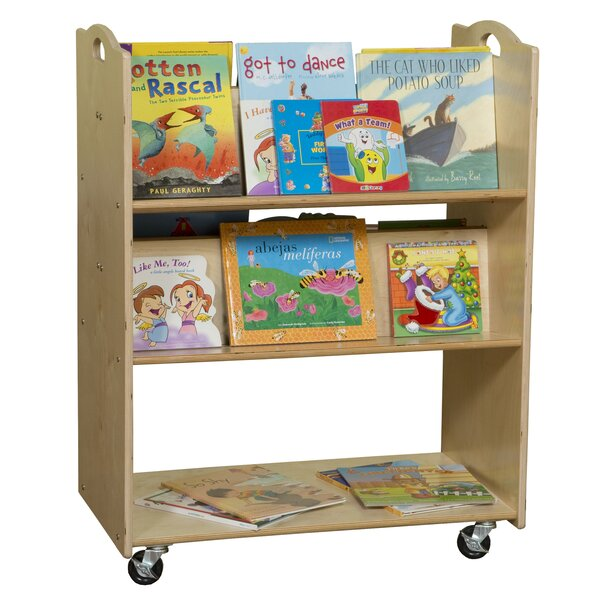 Sloped-Shelf Book Cart by Wood Designs