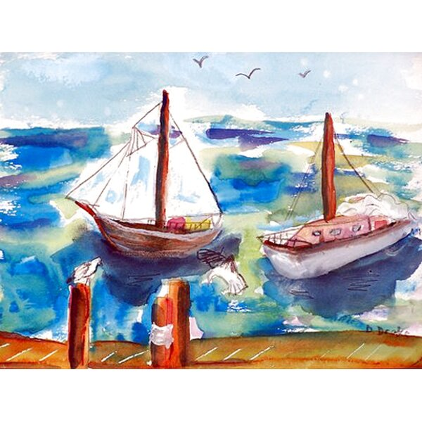 Two Sailboats Placemat (Set of 4) by Betsy Drake Interiors