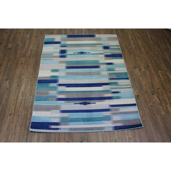 Kilim Blue / Teal Area Rug by Rug Factory Plus