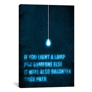 'Light a Lamp' by Budi Satria Kwan Textual Art on Canvas by iCanvas