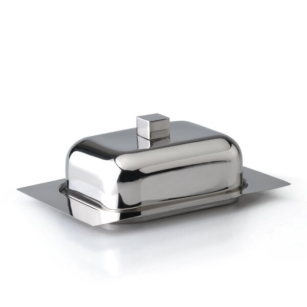 Cubo Stainless Steel Butter Dish by BergHOFF International