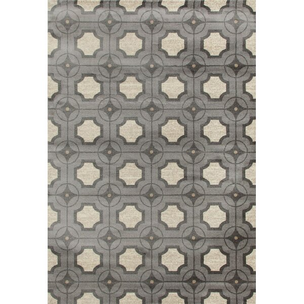Crim Gray/Ivory Area Rug by Breakwater Bay