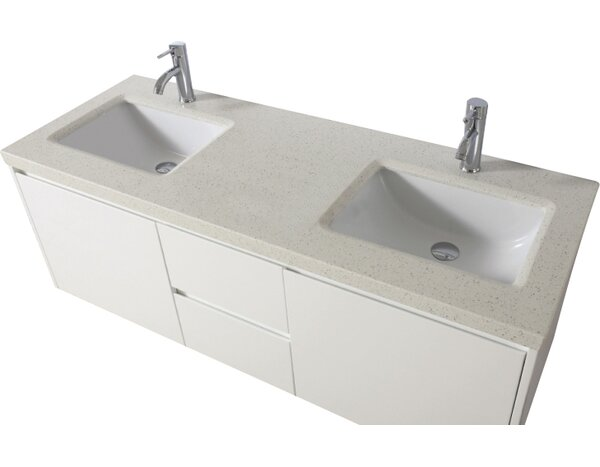 Bamos 60 Double Bathroom Vanity Set with Mirror by Bauhaus Bath