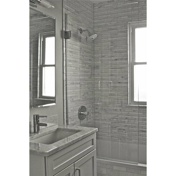 33.5 x 60 Hinged Frameless Tub Door by Ark Showers