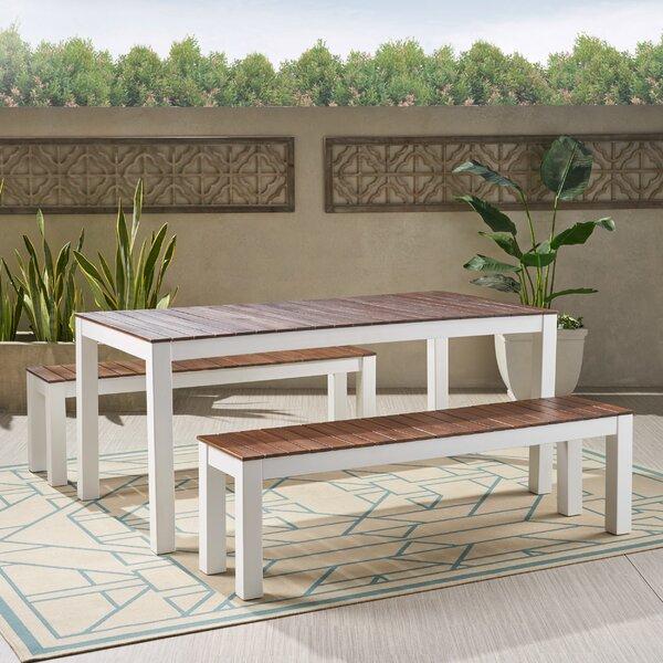 Benedetta 3 Piece Dining Set by Trent Austin Design
