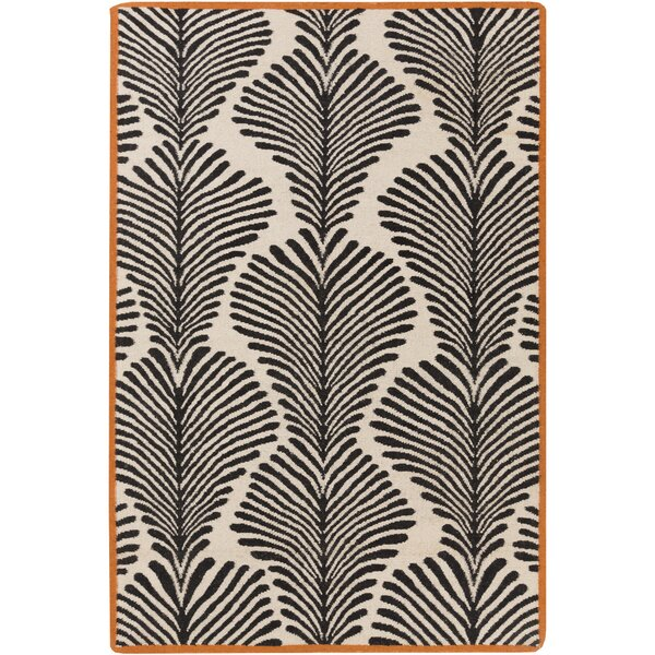 Nantes Beige/Black Geometric Area Rug by Surya