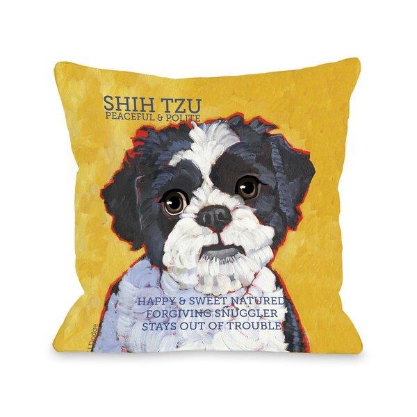 Doggy Décor Shihtzu Throw Pillow by One Bella Casa