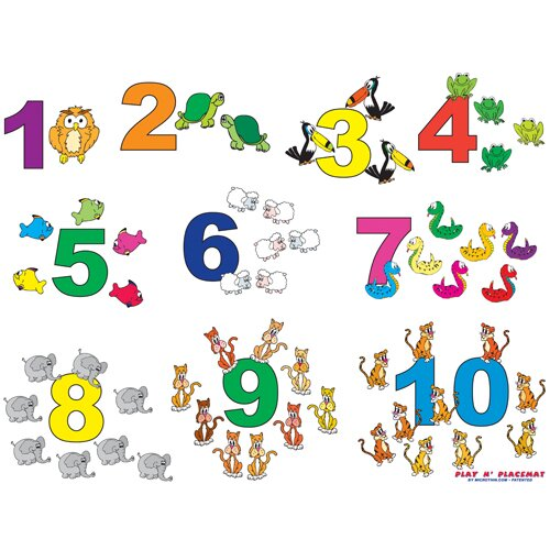 Numbers Play Placemat by Magic Slice