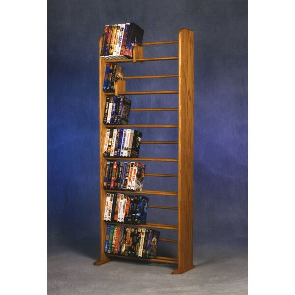 280 DVD Dowel Multimedia Storage Rack By Rebrilliant